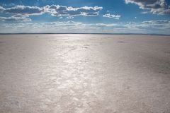 Salt lake in Turkey Royalty Free Stock Images