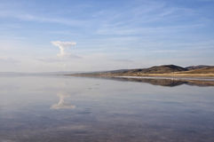 Salt Lake Tuz Golu. The shore of the salt lake Tuz Golu at sunny day Royalty Free Stock Photography