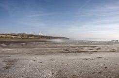 Salt Lake Tuz Golu. The shore of the salt lake Tuz Golu at sunny day Stock Images