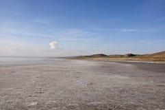 Salt Lake Tuz Golu. The shore of the salt lake Tuz Golu at sunny day Royalty Free Stock Photo