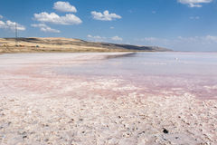 Salt Lake of Tuz Golu Turkey Royalty Free Stock Photo