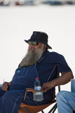 Salt Lake, Utah - September 8: An unidentified spectator sitting Royalty Free Stock Photography