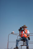 Salt Lake, Utah - September 8: An unidentified Video Camera Man royalty free stock photos