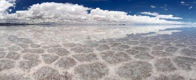 Salt Lake Uyuni Bolivien - Panorama lizenzfreies stockfoto