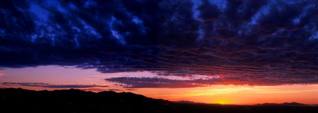 Salt Lake Valley sunset panorama Royalty Free Stock Images