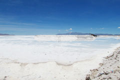 Salt lake with water, Salar Uyuni, Bolivia Royalty Free Stock Images