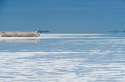 Salt lake water surface Stock Photography