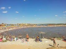Salt lakes in Sol-Iletsk1 Stock Photo