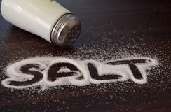 Salt in the letters stock photo