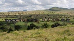 Salt lick lodge , Taita Hills , Kenya. Salt lick lodge for tourists at safari in Taita Hills wildlife sanctuary ( Kenya Stock Photography