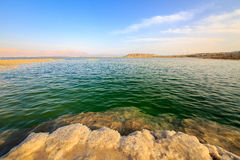 Salt lumps at shore of the Dead Sea Royalty Free Stock Photo