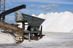 Salt and machines Stock Image