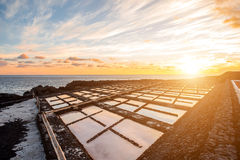 Free Salt Manufacturing On La Palma Island Royalty Free Stock Image - 67858626