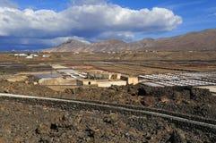 Salinas de Janubio, Lanzarote Island, Canary Islands, Spain Royalty Free Stock Photos