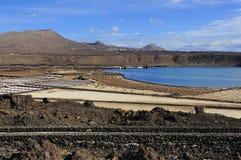 Salinas de Janubio, Lanzarote Island, Canary Islands, Spain Stock Photography