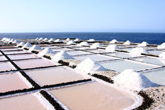 Salt evaporation ponds Royalty Free Stock Image