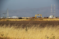 Salt Marsh with Industry in the Background Royalty Free Stock Photos