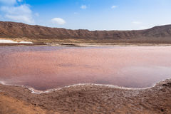 Salt marsh of Salinas  in Sal Cape Verde - Cabo Verde Islands Royalty Free Stock Photography