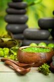 Salt and massage stones Stock Photos