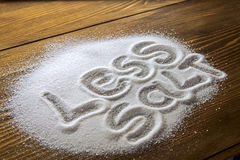 Less salt – medical concept Royalty Free Stock Photos