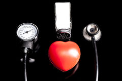 Salt and Medical Instrument Stock Image