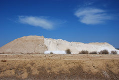 Salt mine. Area production of salt, marshes of the Odiel, Spain Royalty Free Stock Photos