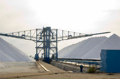 Salt mine. In south of Spain- Industrial plant Stock Photography
