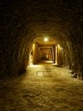 Salt mine adit. One of galleries in Bochnia Salt Mine, Poland stock photo