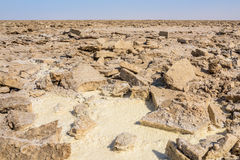 Salt mine in Danakil Depression desert in Ethiopia Stock Photography