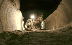 Salt mine on a depth 640 meters Carpathians Stock Photography