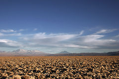 Salt Mine in the Deserts of Atacama. View of the salt mines in the Atacama Desert, in Chile,with the mountains with snow in the background Stock Photography