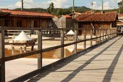 Salt mine. Entrance of a tradicional salt mine located in Rio Maior - Portugal Stock Photography