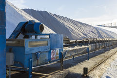 Salt mine industry Royalty Free Stock Photography
