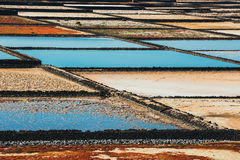 salt mine at the island of lanzarote, Spain Stock Photography
