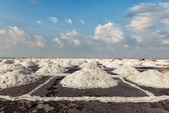 Salt mine at lake Stock Images