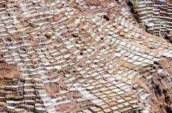Salt mine. Of Maras near the city of Cusco in Peru royalty free stock photography