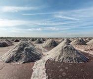 Salt mine at Sambhar Lake, Sambhar, Rajasthan, India Royalty Free Stock Image