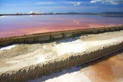 Salt mine in Sardinia Stock Photography