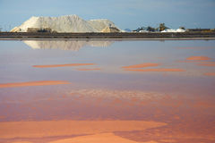 Salt mine in Sardinia Stock Images