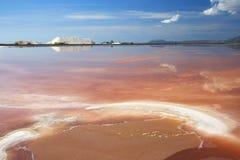 Salt mine in Sardinia Royalty Free Stock Image