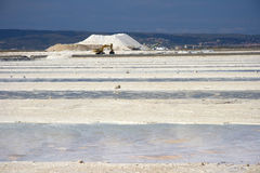 Salt mine in Sardinia Stock Image