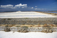 Salt mine in Sardinia Stock Photos