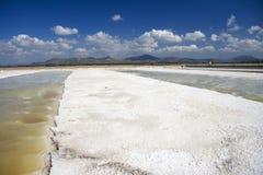 Salt mine in Sardinia Royalty Free Stock Photography