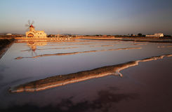 Salt mine in Sicily Royalty Free Stock Images