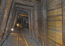 Salt Mine Tour Point Stock Image