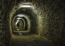 Salt mine tunnel Royalty Free Stock Photography