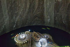 Salt mine Turda Transylvania - Romania Royalty Free Stock Photos