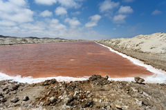 Salt mineral mining in Namibia Stock Photo