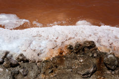 Salt mineral mining in Namibia Royalty Free Stock Photo