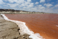 Salt mineral mining in Namibia Stock Image